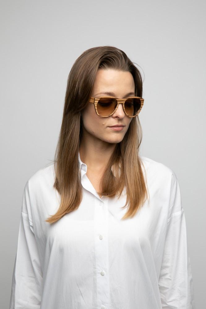 URIEL Sun ZEBRANO unisex sunglasses Wooden Sunglasses