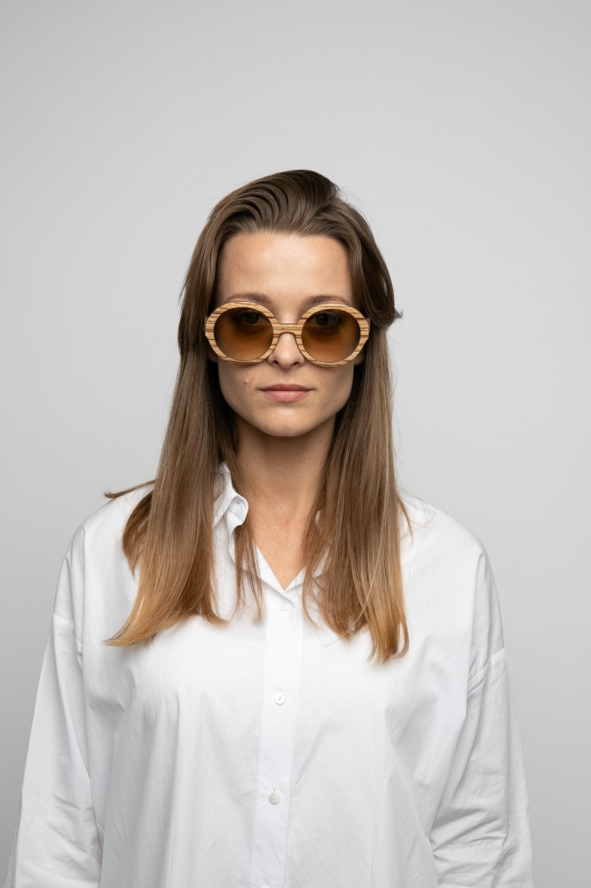 Holy O sunglasses Zebrano Wooden Sunglasses