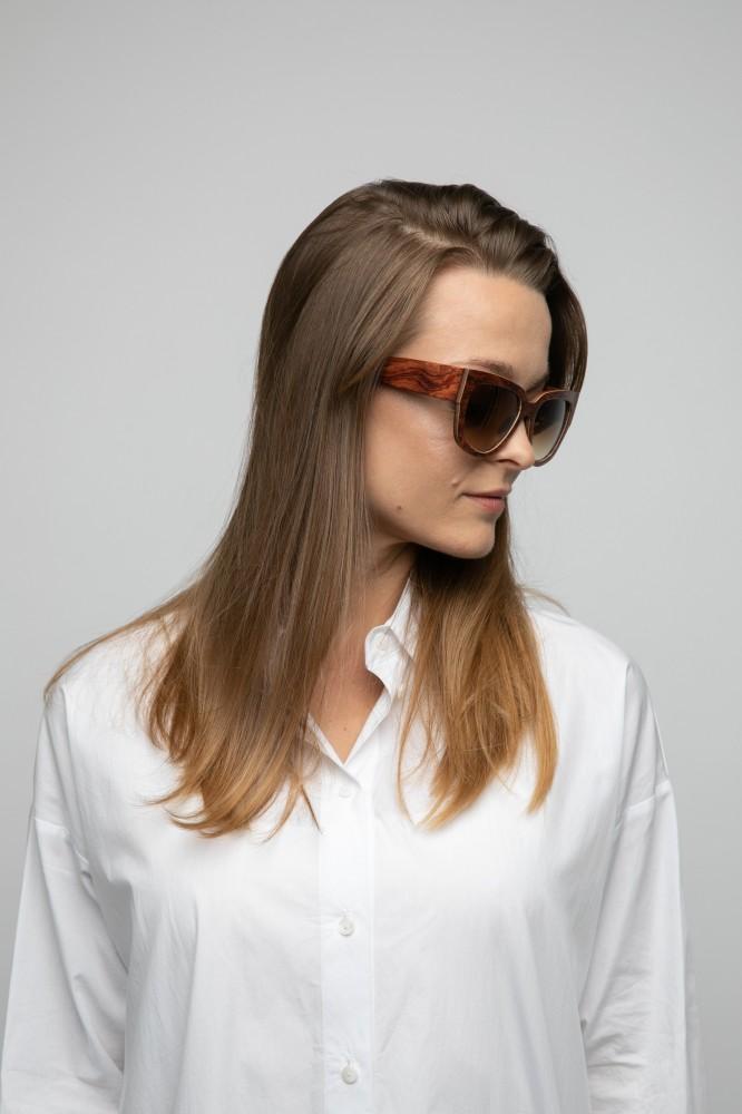 Holy Kitty Bubinga Sunglasses Wooden Sunglasses