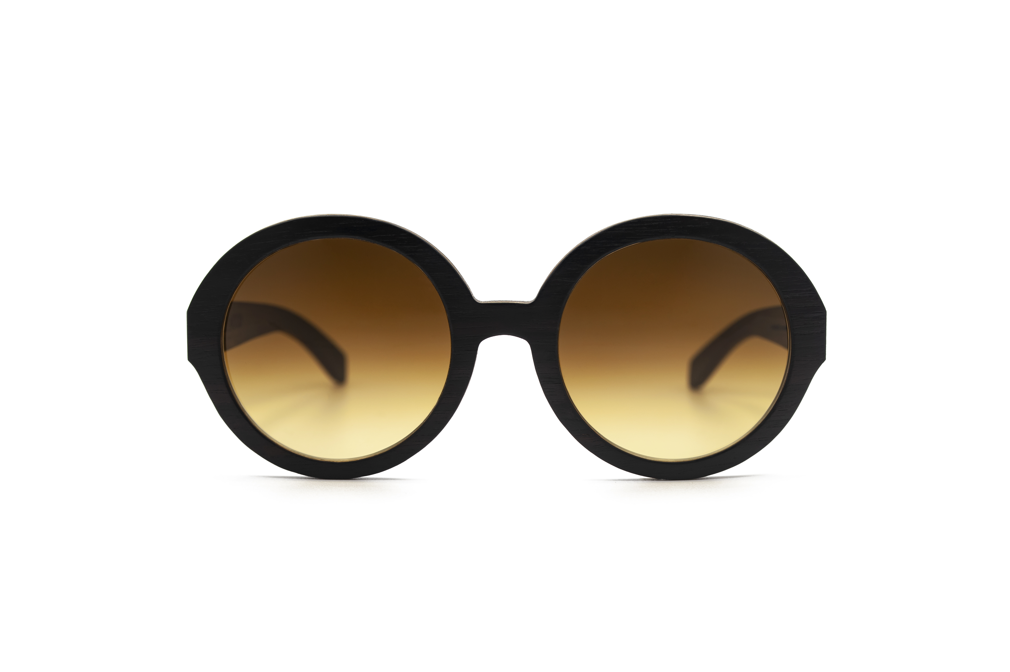 Holly O Round Sunglasses Wooden Sunglasses