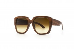 Angus Orange Polisander square Sunglasses Wooden Sunglasses