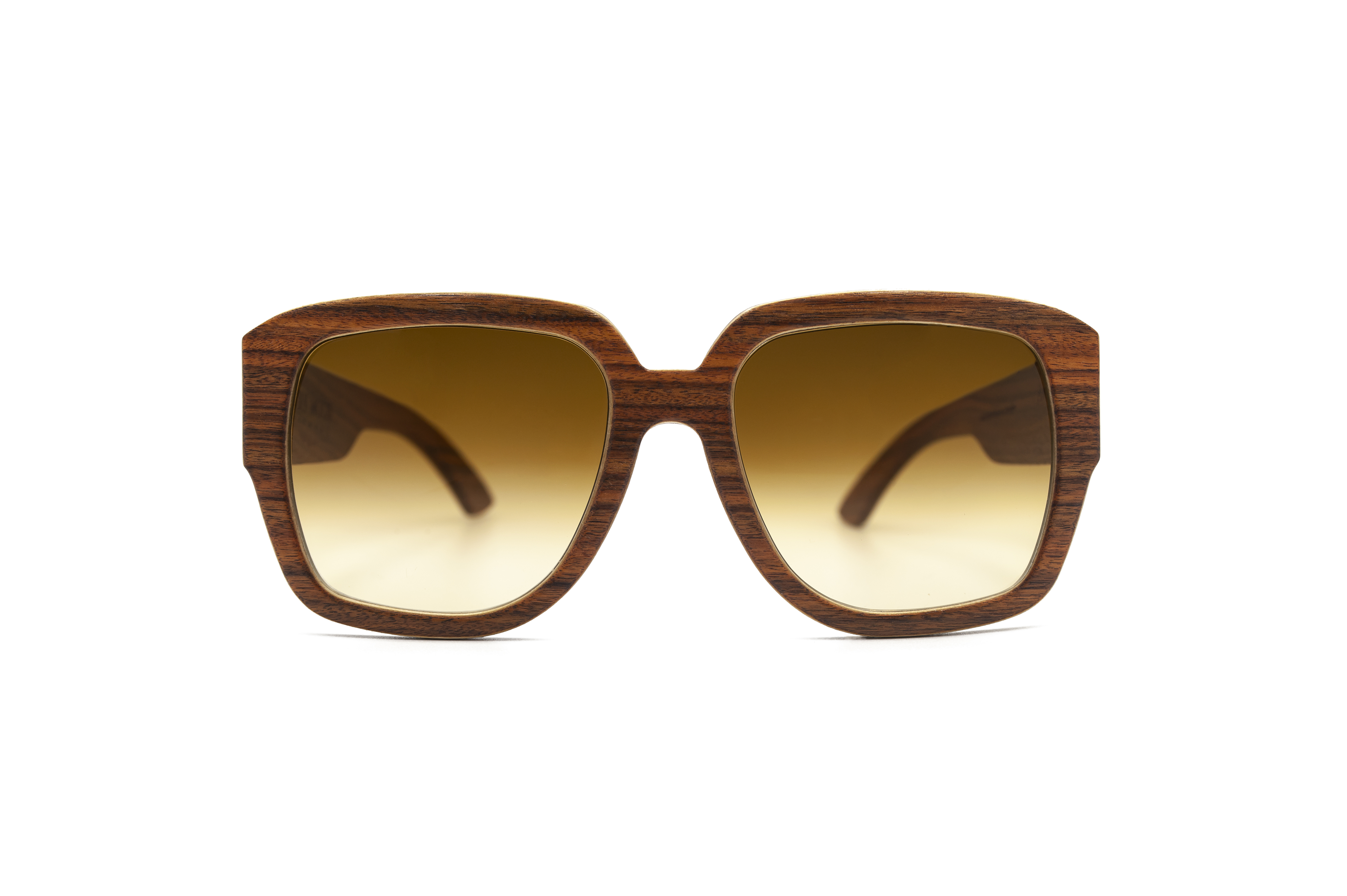 Angus Orange Polisander square Sunglasses Wooden Sunglasses