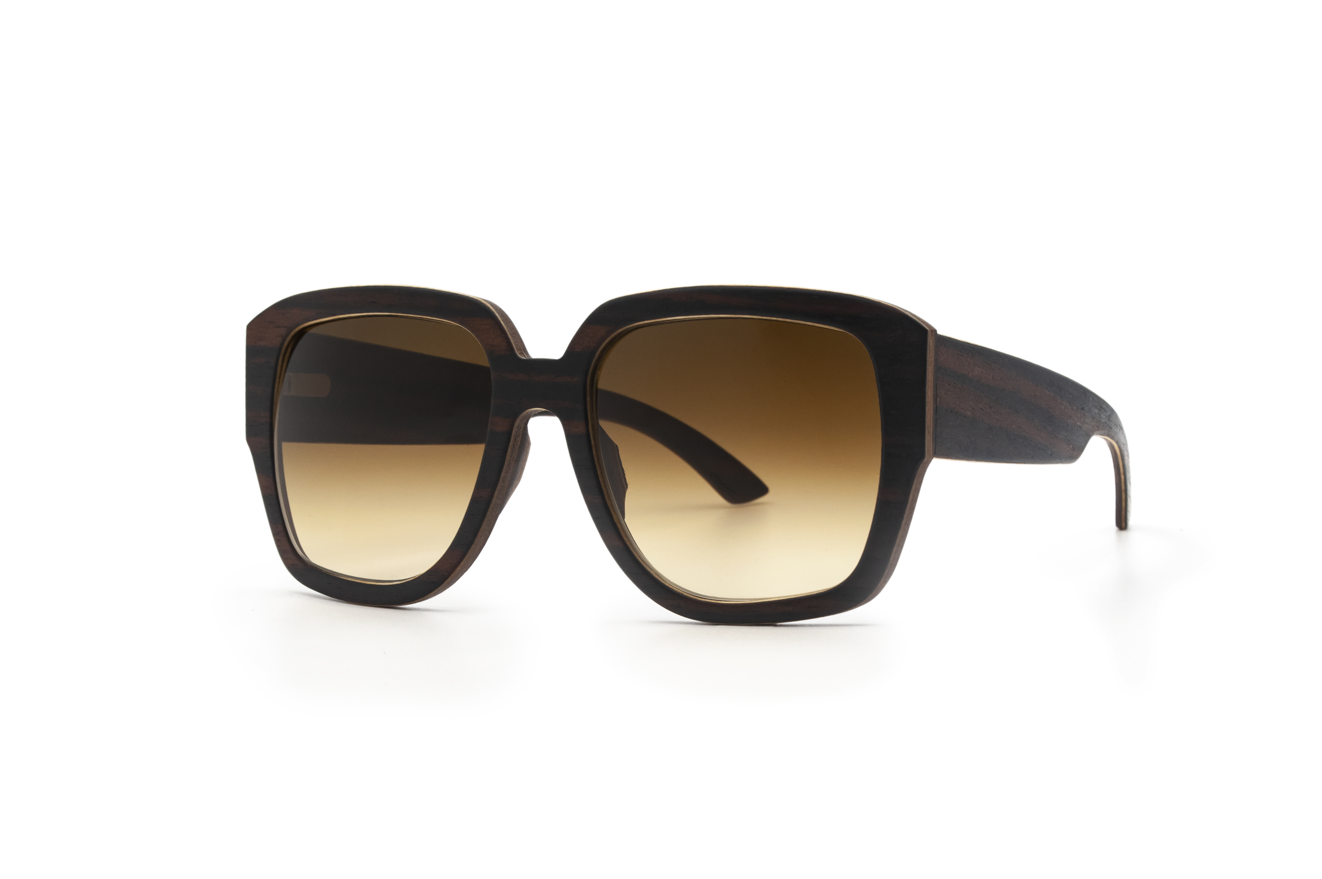 Angus Black Square Sunglasses Wooden Sunglasses