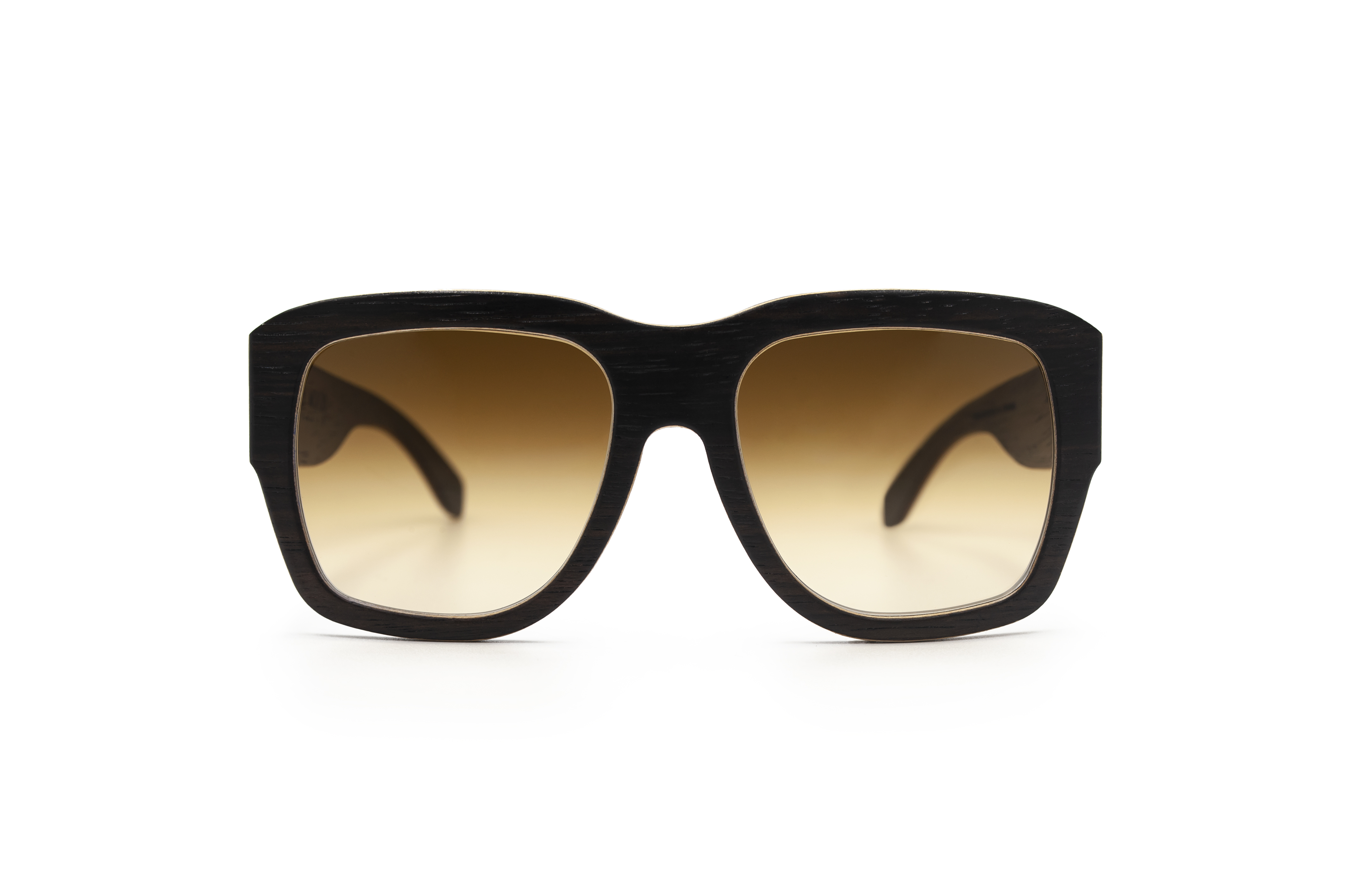 Angus big square sunglasses Ebony Wooden Sunglasses